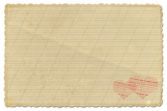 Old grunge paper on the isolated background Royalty Free Stock Photos