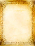 Old grunge paper with old-fashioned border. Stock Images