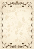 Old grunge paper with ornate elements Stock Photos