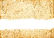 Old grunge paper with scratch space Royalty Free Stock Image