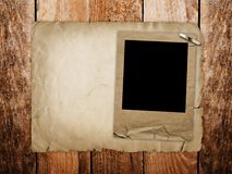 Old grunge paper slide Stock Photo
