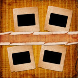 Old grunge paper slides Stock Photos