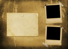 Old grunge paper slides Stock Image