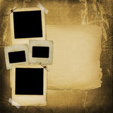 Old grunge paper slides on the background. Old grunge paper slides on the ancient background Royalty Free Stock Photo