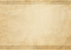 Old  grunge paper texture with decorative border. Royalty Free Stock Image