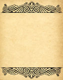 Old grunge paper with victorian style Stock Images