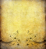 Old grunge paper with vintage flower Royalty Free Stock Image