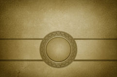 Old grunge paper with vintage ornaments. Royalty Free Stock Photography