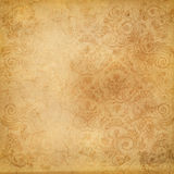 Old grunge paper with vintage ornaments. Royalty Free Stock Photos