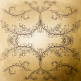 Old grunge paper with vintage patterns. Royalty Free Stock Photo