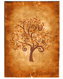 Old grunge paper with wood Royalty Free Stock Photography