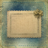 Old grunge photoalbum for photos Stock Images