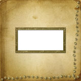 Old grunge photoalbum for photos Royalty Free Stock Photo