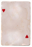 Old grunge playing card background with two hearts Royalty Free Stock Photography