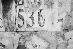 Old grunge posters paper surface texture background.  stock photography