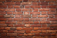 Old grunge red brick wall Royalty Free Stock Photos