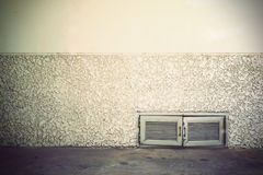 Old grunge room with concrete wall Stock Photography