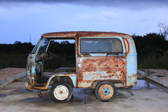 Old Grunge Rusty Volkswagen Van Stock Photos