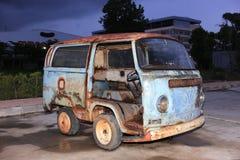 Old Grunge Rusty Volkswagen Van Royalty Free Stock Photography