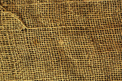 Old grunge sack cloth canvas texture. Background Royalty Free Stock Image