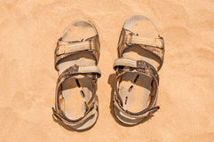 Old grunge sandals Stock Photos