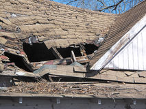 Old Grunge Shingled Roof. royalty free stock photography