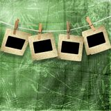 Old grunge slides on the paper background Royalty Free Stock Photo