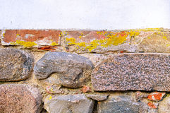Old grunge stone textured wall. Retro filter applied Royalty Free Stock Photos