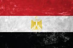 On Old Grunge Texture Background. Egypt - Egyptian Flag on Old Grunge Texture Background stock photos