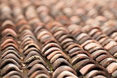 Old grunge tile roof Stock Photos