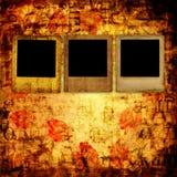 Old grunge torn frame Stock Images