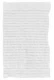 Old grunge torn lined paper. On white background Stock Photo
