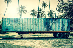 Old grunge truck in tropical inviroment Stock Image