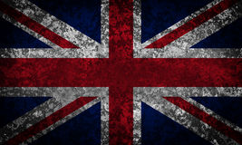 Old grunge Union Jack. Stock Images