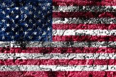 Old grunge United States background flag.  Vector Illustration