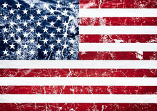 Old grunge united states flag Royalty Free Stock Image