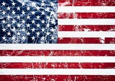 Old grunge united states flag. Old grunge flag of the united states Royalty Free Stock Image