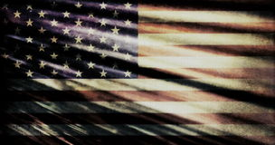 Old grunge USA flag Royalty Free Stock Images