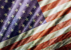 Old grunge USA flag background Stock Photo
