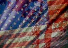 Old Grunge USA Flag Royalty Free Stock Image
