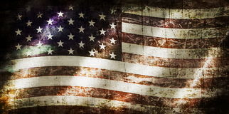 Old Grunge USA Flag Stock Photo