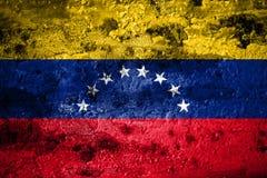 Old grunge Venezuela background flag vector illustration