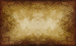 Old grunge victorian style paper Royalty Free Stock Photos