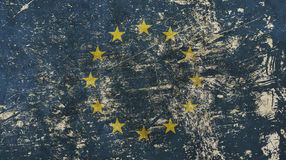 Old grunge vintage faded European Union EU flag Royalty Free Stock Images