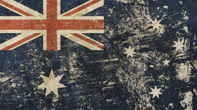 Old grunge vintage faded flag of Australia Royalty Free Stock Photos