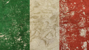 Old grunge vintage faded flag of Italy Stock Photos