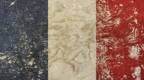 Old grunge vintage faded France republic flag Royalty Free Stock Photo