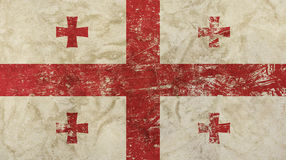Old grunge vintage faded Georgia republic flag Stock Photography