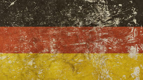 Old grunge vintage faded German republic flag Royalty Free Stock Photography