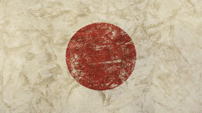 Old grunge vintage faded Japan Nippon flag Stock Photo